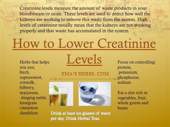 How to lower creatinine levels