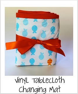 Baby Changing Mat tutorial - from vinyl tablecloth