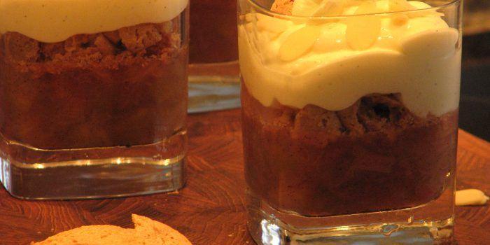 Gluten- og laktosefri rabarbertrifli