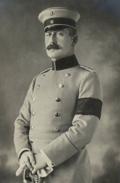 Maximilian Alexander Friedrich Wilhelm, Prince of Baden (1867 – 1929), also known as Max von Baden, was a German prince politician. He was heir to the Grand Duchy of Baden in October and November 1918 briefly served as Chancellor of the German Empire. Maximilian was a member of the House of Baden, the son of Prince Wilhelm Max, son of Grand Duke Leopold Princess Maria Maximilianovna of Leuchtenberg. He was named after his maternal grandfather, Maximilian de Beauharnais