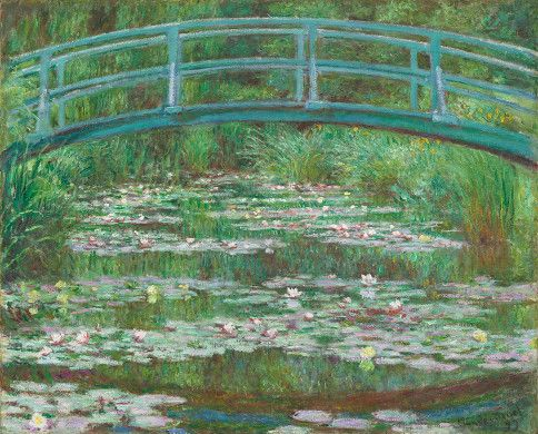 Monet ..anything MonetArtists, Claude Monet, Japan Footbridge, The Bridges, Japanese Footbridge, Claudemonet, Painting, National Gallery, Water Lilies