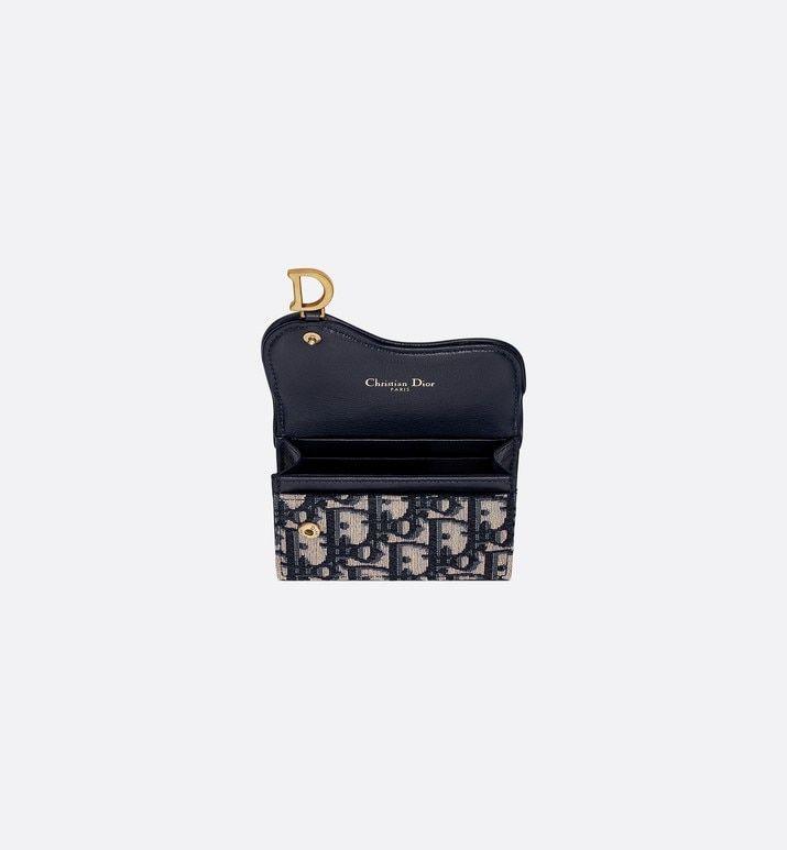 Dior Oblique Saddle Card Holder Bags Woman Dior Designer Wallets Dior Fashion Handbags