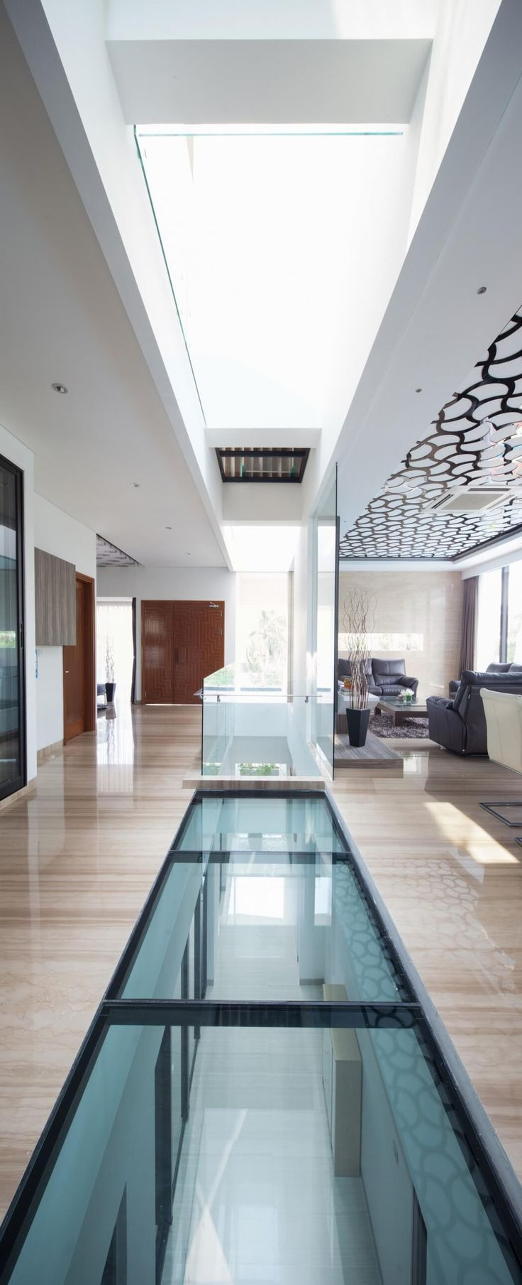 best 25 glass floor ideas on pinterest pool companies modern opulent home in jakarta plays with shapes textures