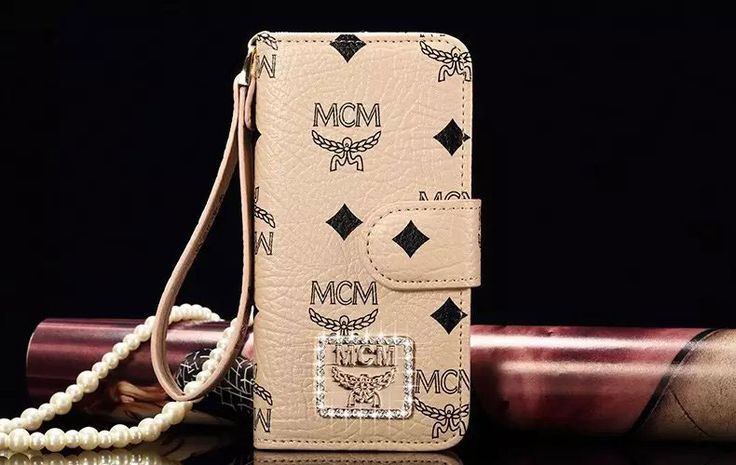 MCM Brand Wallet Leather Phone Cases For iPhone 6/6S Khaki