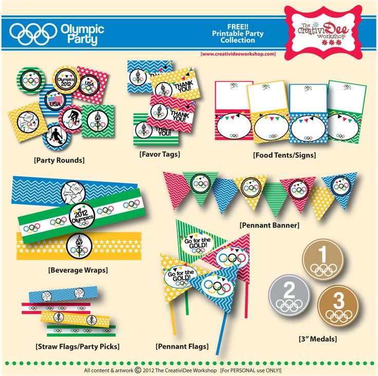 Olympic Party FREE Printables!!   Olympic Games - Olympics