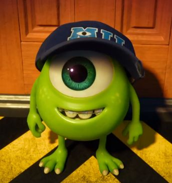 Mike Wazowski from the Monsters movies