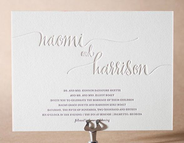 Image Result For Embossed Names Wedding Invitations Wedding