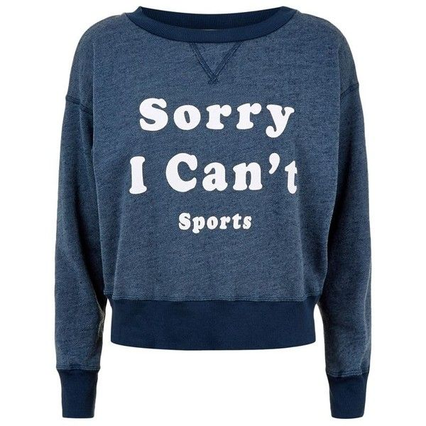 Wildfox Can't Sports Slogan Terry Sweatshirt (2,870 MXN) ❤ liked on Polyvore featuring sport jerseys, wildfox, blue jersey, terry jersey and sports jerseys