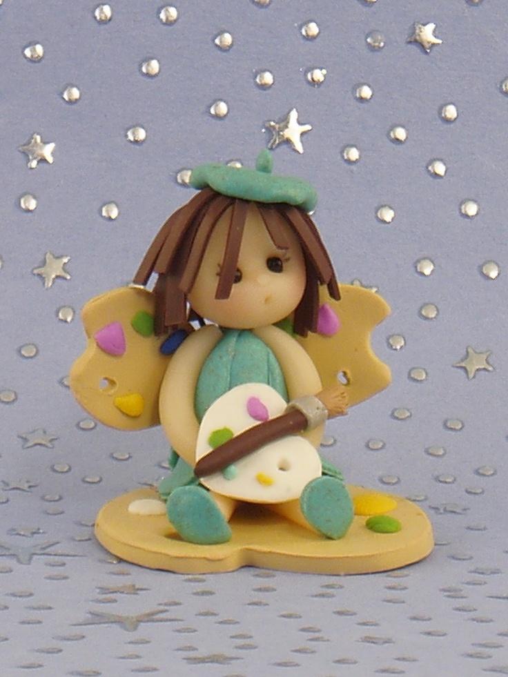 *POLYMER CLAY ~ Artist Baby Fairy.