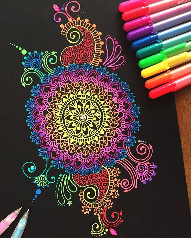Hey guys!  I hope your all having an awesome day!  If your wondering what the pens are called that I used for this drawing they are Sakura gelly roll pens!  a lot of people ask about them  I hope you guys like this doodle and thank you so much for 70k!  #zentangle#gellyroll#pens