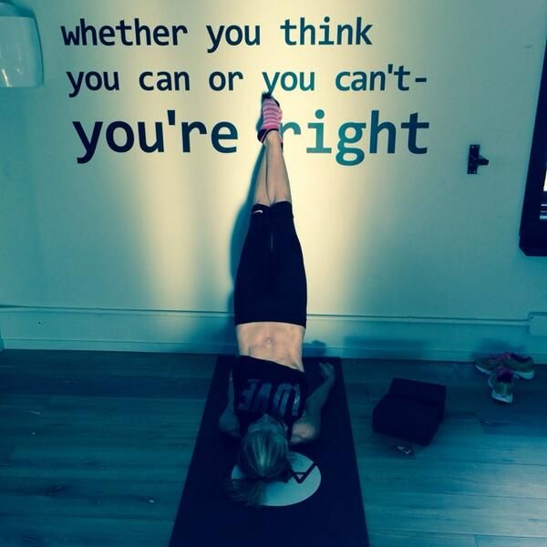 whether you think you can or you can't- you're right
