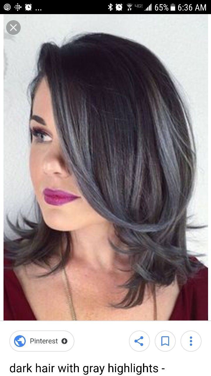 Pin By Connie Bearsch On Hair Color Brunette Hair With Highlights Hair Highlights Grey Hair Color