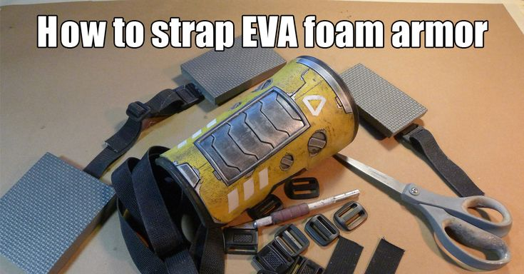EVA foam is one the easiest to use materials for fabricating costumes and props. But once you've made you awesome costume pieces out of EVA foam, how do you strap them. Here's a great tip for str...