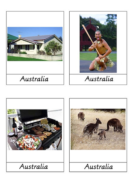 free download. continent picture cards.