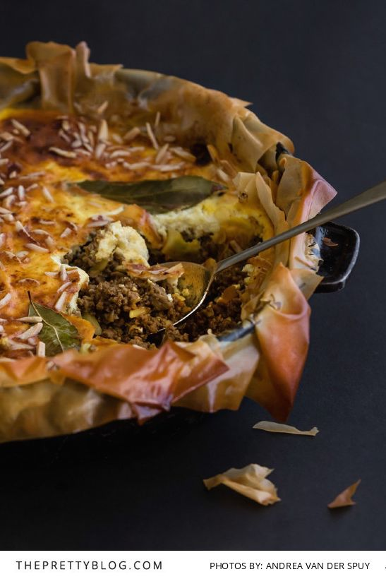 A Nostalgic Phyllo Bobotie Pie