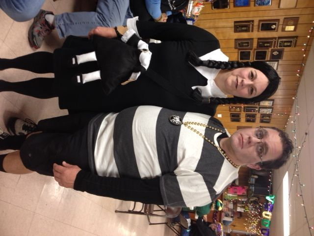 My friends at Mardi Gras aka Addams family members are not creepy or kooky