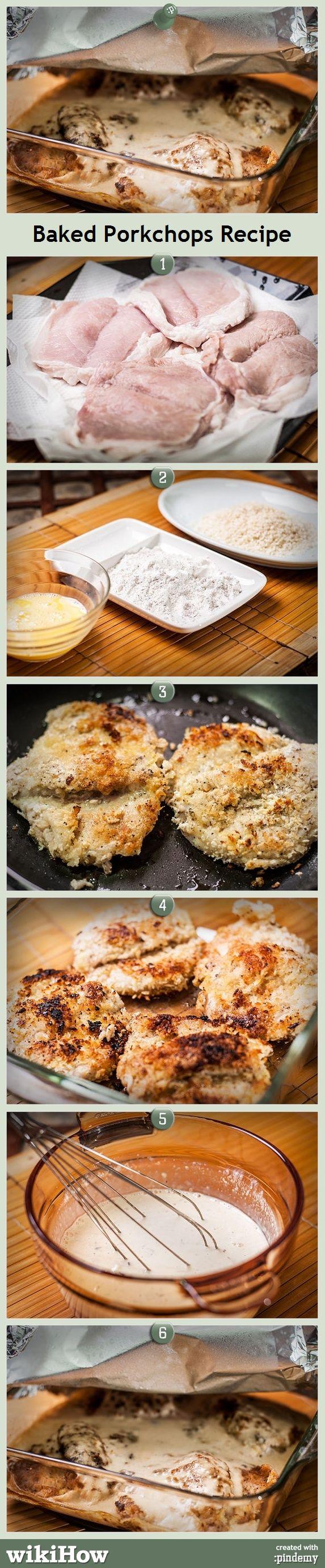 Baked Porkchop Recipe! #recipe