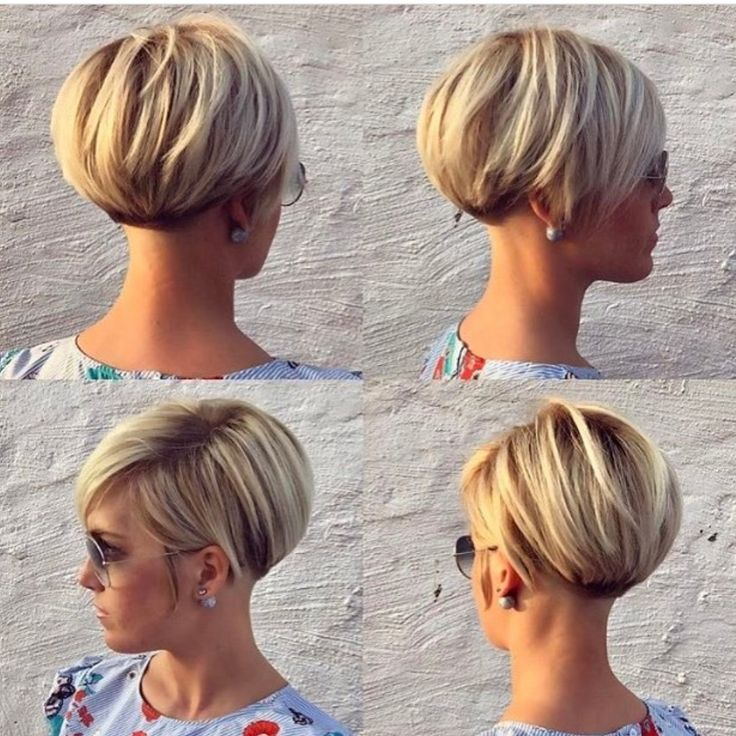 Cropped bob hairstyle