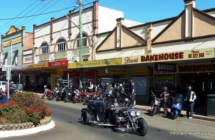 Kyogle is a popular day trip destination for bike rides