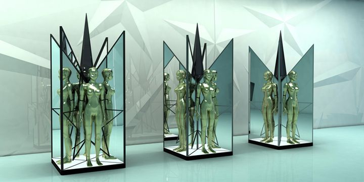 Mugler visual merchandising by Studio JANREJI visual merchandising