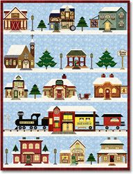 Holiday Snow Village Block of the Month - Stitchin Heaven