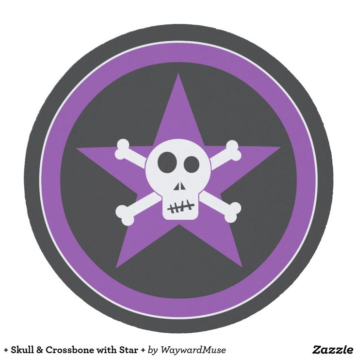 + Skull & Crossbone with Star + Round Paper Coaster