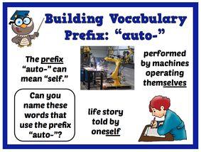 Unit 4 The prefix auto-