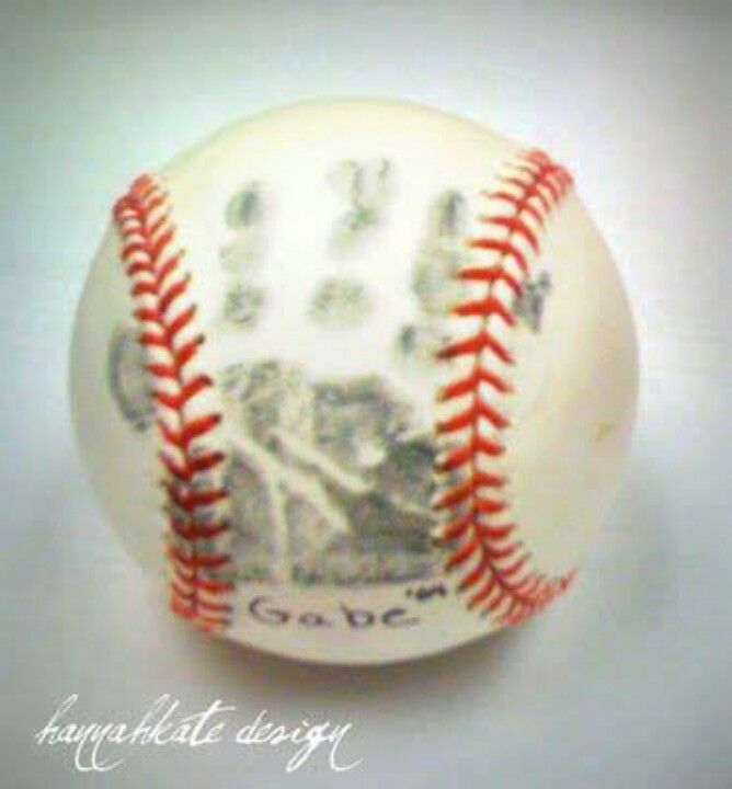 Baseball handprint first year of t-ball