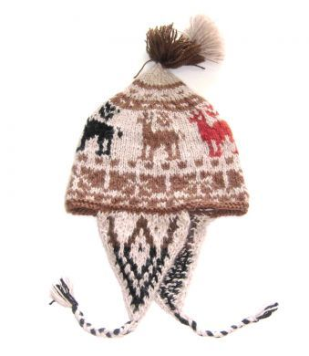 Aufwendig gestaltete #Chullo #Mütze aus der Titicaca See Region in #Peru. Die Chullo ist handgestrickt aus natürlicher Alpakawolle.Durch die elastische Strickweise, Einheitsgröße.