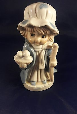 Vintage KPM Figurine - Little Girl with Staff and Basket of Birds