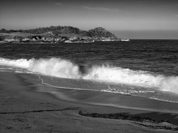 A view of Point Lobos from Monastery Beach on a warm March morning.