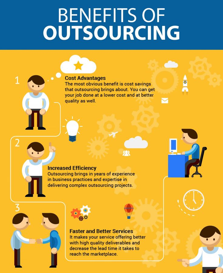 The benefits of outsourcing. In a handy infographic. because infographics make everything better.