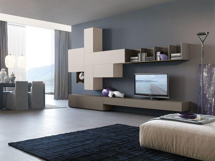 46 best living moderno images on pinterest | tv walls, tv units ... - Soggiorno Moderno Tomasella 2
