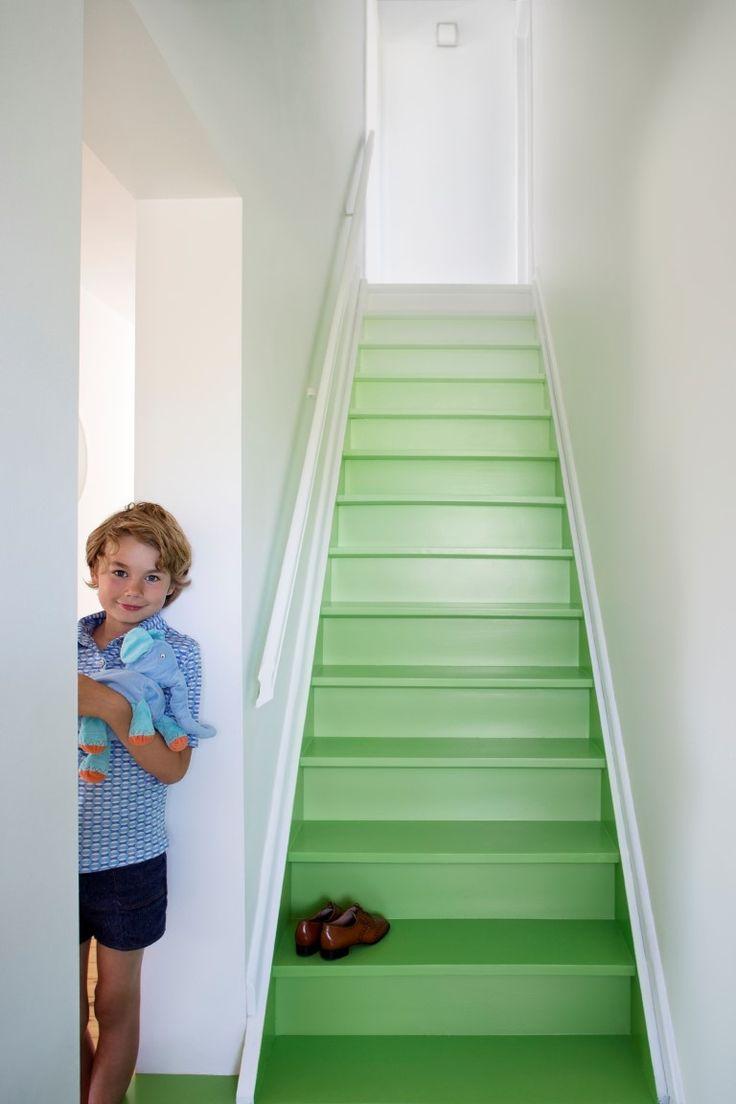 Dégradé geschilderde trap