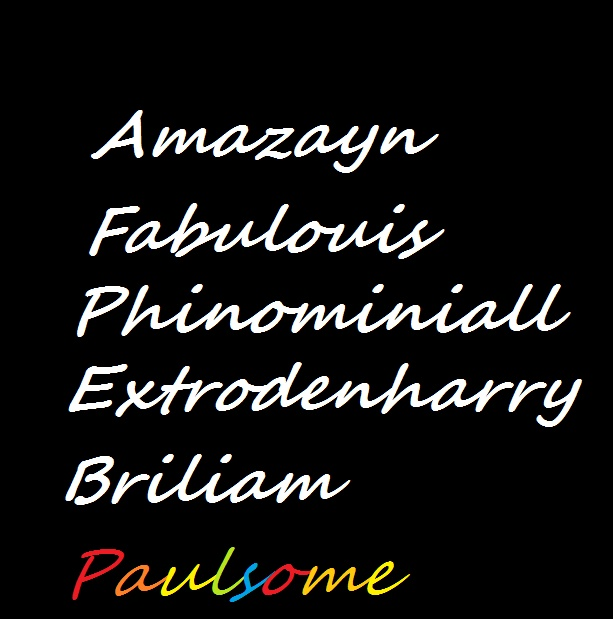 Don't forget Paul!>>hahahah this is awesome...oh and the person spelled Phenominiall wrong.