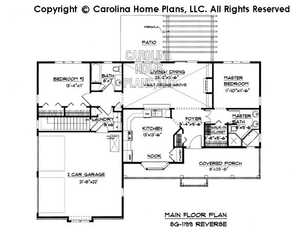 Small Ranch Style House Plan Sg 1199 Sq Ft Affordable