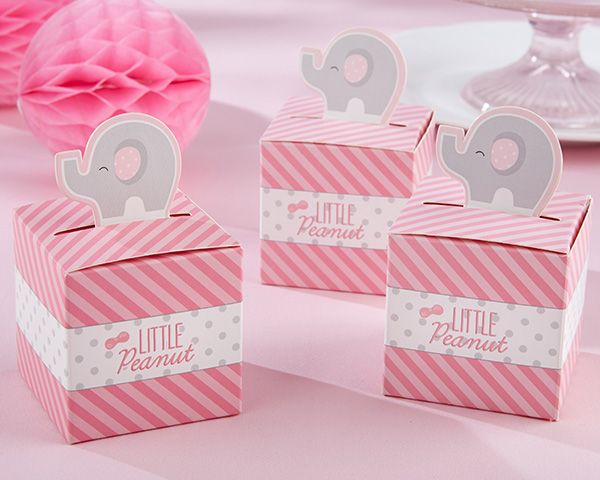 LITTLE PEANUT ELEPHANT FAVOR BOX (SET OF 24)