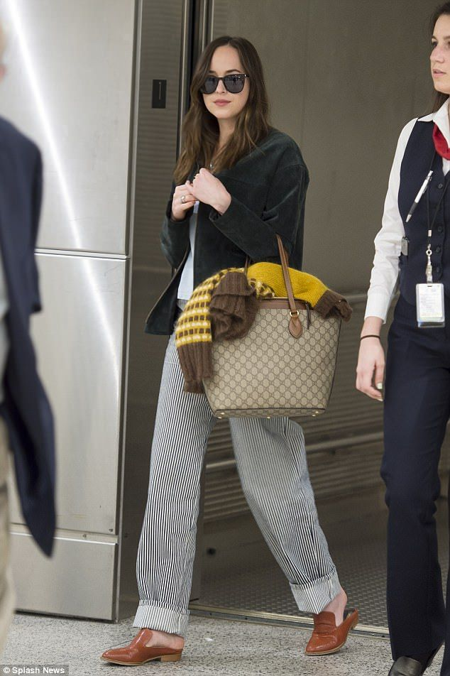Carry your goodies in a monogram tote bag by Gucci. Click 'Visit' to buy now. #DailyMail