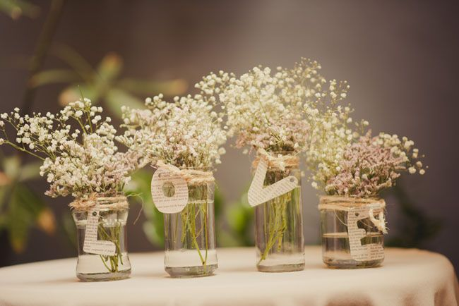 Estilo Vintage Decoracion Boda ~ Ideas originales para decorar Tarros palabra love con papel