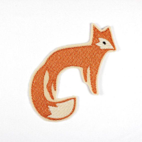 iron-on applique iron-on patches applique Patch Fox Gordo 10 x 9cm / size inches 3.94 x 3.54