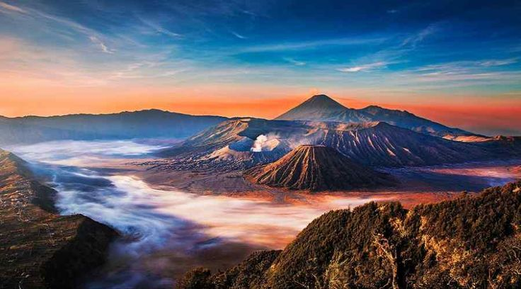 Top Indonesia Sightseeing Attractions - Bromo Mountain East Java, a dynamic well of lava and a piece of the Tengger massif.