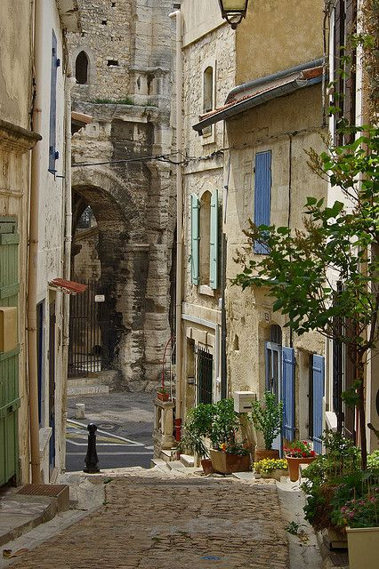 Arles Street Scene - France. Been there .  There is something about Arles...