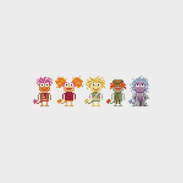 Fraggle Rock Cross Stitch Pattern PDF Instant por pixelsinstitches, $4,00