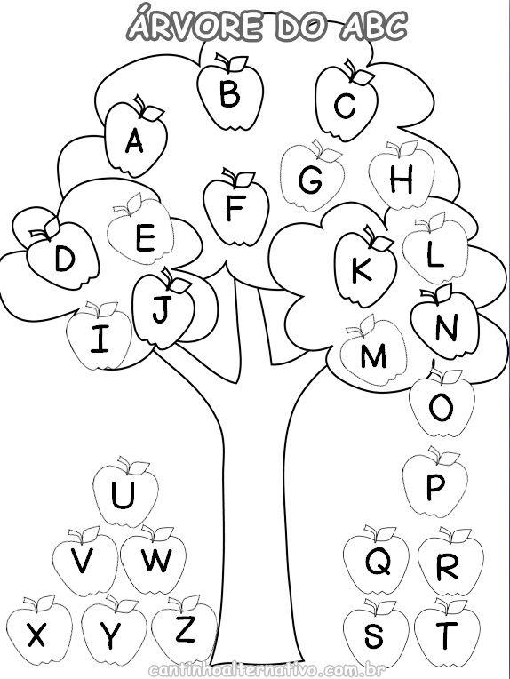flores do jardim letra : flores do jardim letra:Atividade da Árvore do ABC Para Trabalhar a Letras Maiúsculas e