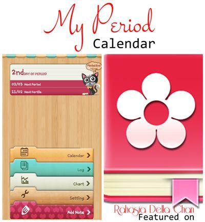 Aplikasi Period Calendar - Kalender Menstruasi - Rahasia Della Azizah Munawar- 400 pxl - Google Play Store - Aplikasi Android
