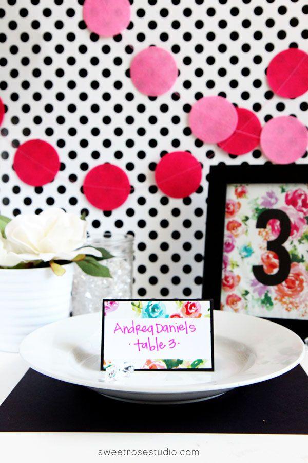 Easy DIY Place Card at Sweet Rose Studio