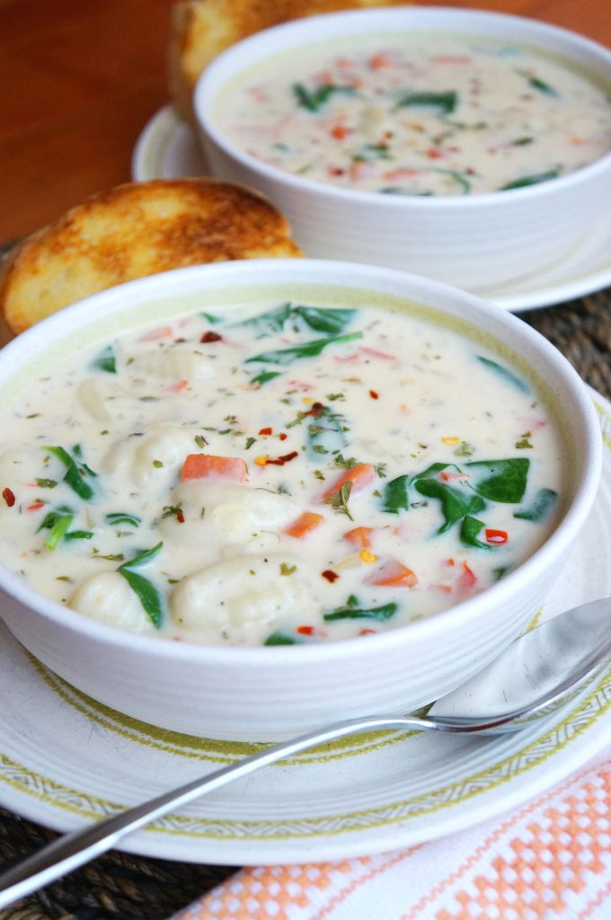 Creamy Vegetable Gnocchi Soup - perfect winter hearty soup. Comfort food at it's best.