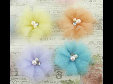 DIY:Easy to make Fabric tu tu tulle flower tutorial by SaCrafters - YouTube