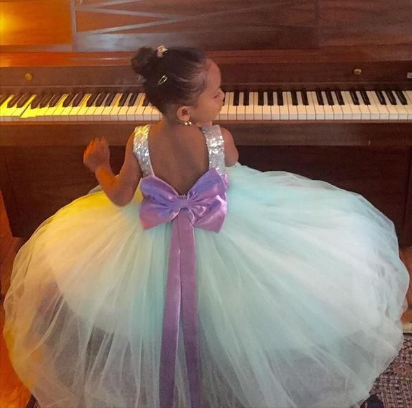 Princess Selena Dress (Blue & Purple) - Itty Bitty Toes  - 3