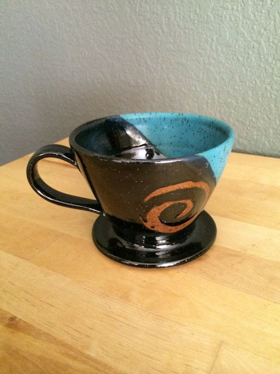 Coffee dripper pourover filter holder by redhotpottery on Etsy